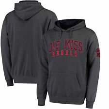 Ole Miss Rebels Colosseum Double Arch Pullover Hoodie - Charcoal - College
