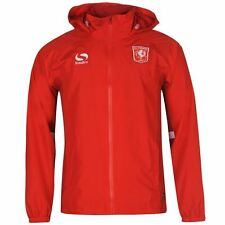 Sondico Mens FC Twente Rain Jacket Waterproof Lightweight Mesh Full Zip Top