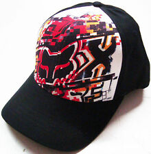 FOX RACING PUZZLE FRONT CURVED BRIM FLEXFIT HAT CAP BRAND NEW