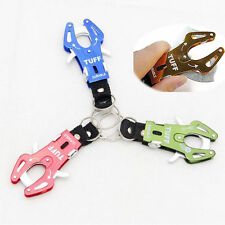 New Climb Hook Carabiner Clip Lock Keychain Ring Chain Multicolor Durable