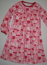 Gymboree Valentines Day 2T Pink Night Gown Pajama PJs New gymmies Girls Hearts