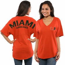 Miami Hurricanes Women's Spirit Jersey Oversized T-Shirt - Orange - College