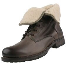 NEW Mustang Men's Shoes leather Boots padded Ankle Boots
