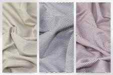 Italian Woven Pinstripe Cotton Shirting Dress Fabric (MV-XA17-RedWhite-M)