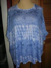 Lane Bryant Boxy Dolman Blue & White Sweater choose 14/16 18/20 22/24 26/28