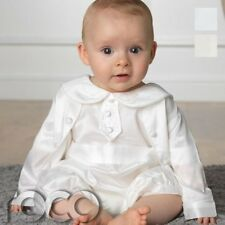 baby Boys Romper Suit, Ivory romper, White baby Rompers, Christening Outfit