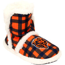 Chicago Bears Women's Flannel Sherpa Boot Slippers - NFL