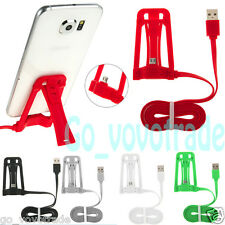 Smart Phone Stand USB Data Cable Charge Multi-function for Samsung for Android