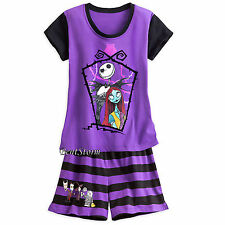 THE NIGHTMARE BEFORE CHRISTMAS Jack Sally Short PJS PAJAMAS WOMEN DISNEY STORE