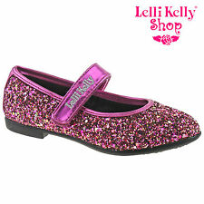 Lelli Kelly LK3710 (LN01) Giselle Fuxia Glitter Dolly Shoes