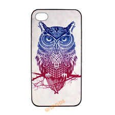 Twig Owl Bird Papercutting Design Hard Case Cover for Apple iPhone 4 4S 5 5S