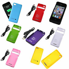 1900mAh Power Bank Backup Battery Charger Case Cover For iPhone 4 4G 4S *BJ