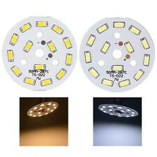 7W Round 5730 SMD 14 LEDs LED Chip Light Lamp Warm/Cool White DC 21-24V W1Y1