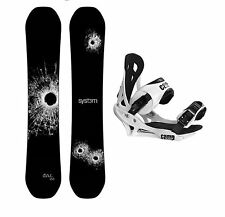 New 2017 System DNR Snowboard + Camp Seven Bindings Mens Snowboard Package