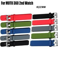 Silicone Replacement Watch Bands Bracelet Strap For MOTO 360 2nd Watch 18/22MM