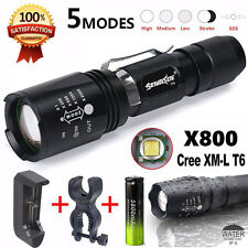 G700 CREE XML T6 LED Zoom Flashlight X800 Lumitact Torch Lamp+Battery+Charger
