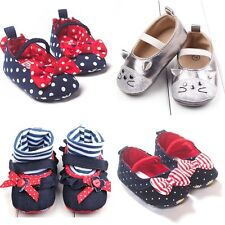 0-18 Months Infant Toddler Girls Crib Cartoon Baby Soft Sole Crib Shoes Gifts CA