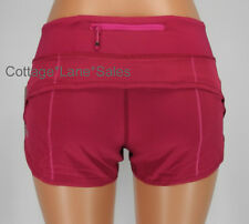 NEW LULULEMON Run Speed Short Sz 6 10 Bumble Berry Shorts NWT Gym FREE SHIP