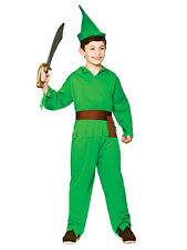 Boys Childs Robin Hood Storybook Peter Pan Book Week Fancy Dress Costume Outfit
