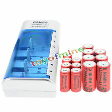 7xD Rechargeable Battery Ni-MH 1.2v+7xC Rechargeable 1.2V Ni-MH Battery+Charger