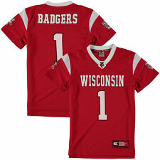 #1 Wisconsin Badgers Colosseum Youth Football Jersey - Red - College