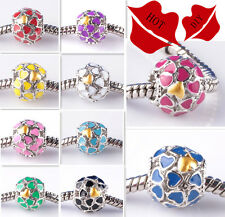 New European Silver Charm Bead Fit sterling 925 Necklace Bracelet Chain US