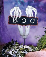 SPOOKY 3-D METAL GARDEN YARD STAKE HALLOWEEN OUTDOOR HOME DECOR - 3 DESIGNS