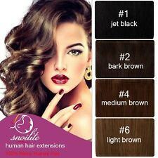 Classy 7PCS Full Head Clip In Remy 100% Real Human Hair Extensions US SHIP HQ393