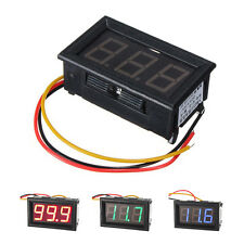 UN3F  0.56inch LCD DC 0-100V Panel Meter Digital Voltmeter with Three-wire