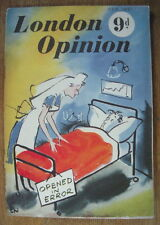 CURIOSA HUMOUR PIN UP LONDON OPINION FEVRIER 1951