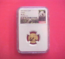 2015 China G50Y Panda NGC MS 70 1/10 Ounce Gold Coin