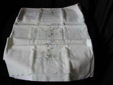 3 Matching Vintage Cotton Pillow cases~Embroidery and Scalloped Edge