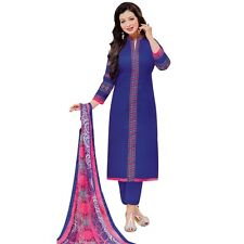 Ready to Wear Rich Cotton Embroidered Salwar Kameez Suit Indian Dress-Magnum-009