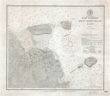 1885 U.S. Coast Survey Chart or Map of Bar Harbor, Mount Desert Island, Maine