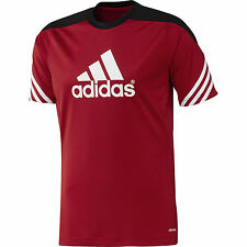 adidas Men's Sereno climalite Football Training T Shirt Jersey Gym Sport Slimfit