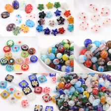 20/50Pcs Mixed Shape Glass Craft Beads Colorful Loose Spacer Bead Wholesale