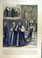 Old Antique Print 1884 Bishop Sydney Westminster Abbey Consecration 56CCC0