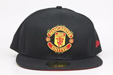 Manchester United Est.1878 Black Red Yellow New Era 59Fifty Fitted Hat Cap