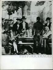1967 Press Photo Painting Depicting The Year New York Stock Exchange Was Founded