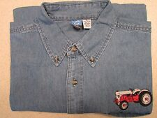 Mens Ford 8N Embroidered Denim Shirt with Pocket