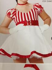 Candy stripes Christmas dance costume parade pageant skate Baby Doll Dress