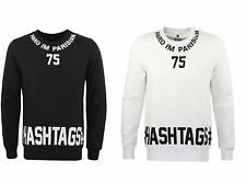PARISIAN HASHTAGS PRINT BLACK WHITE SWEAT SHIRT HOODIE STREETWEAR HIP HOP URBAN