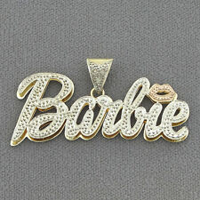 10K Gold Personalized Nicki Minaj Barbie Name Pendant ND62
