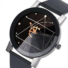 Fashion Women Stainless Steel Date Quartz Dial Sport Leather Analog Wrist Watch