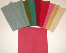 Vintage Wool Blanket Fabric Square 15x15 with Ten Color Options