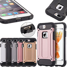 For iPhone 7 Plus Case Heavy Duty Armor Shockproof Hard Soft Dual Layer Cover