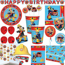FIRE MAN SAM Everything for children's birthday - Fire brigade Theme party Deco