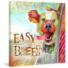 Marmont Hill - 'Breezy Dog' by Connie Haley Painting Print on Wrapped Canvas