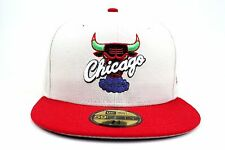 Chicago Bulls Sandstone / Scarlet Lid / White NBA New Era 59Fifty Fitted Hat Cap