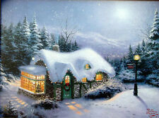 "Thomas Kinkade Silent Night 9"" x 12"" Classic Edition Framed Canvas painting"
